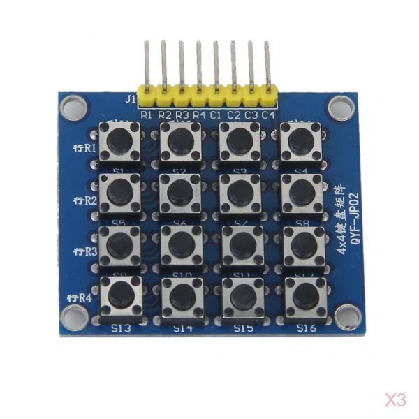 3 Pcs  Matrix Keypad Keyboard Module Board 16 Buttons 4x4