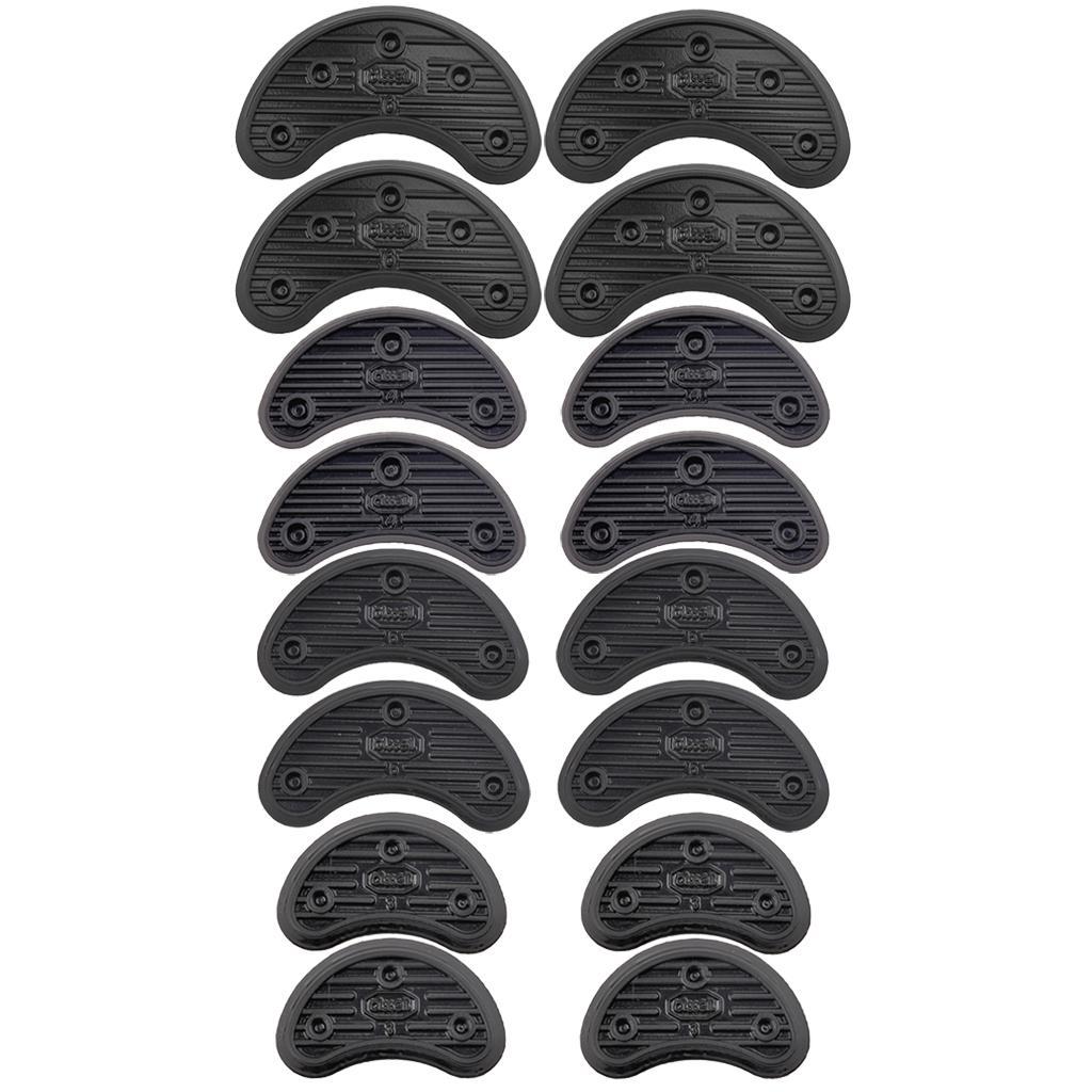 16Pcs 4 Size Shoe Sole Heel Tips Tap Anti-slip Rubber Protectors Shoe Repair