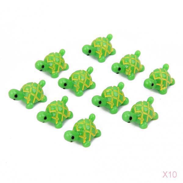 10x 10Pcs Miniature Tortoise Dollhouse Terrarium Bonsai Garden Landscape Decor