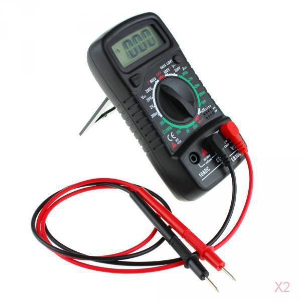 2x AC/DC OHM Pocket Digital Multimeter Voltmeter Ammeter Tester Black