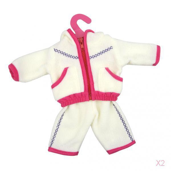 2x Fashion Fuchsia Jacket & Pants Outfit Set for 18'' American Girl Gotz Doll