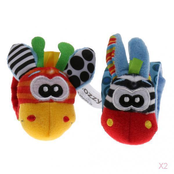 Cute Wrist Rattles Educational Soft Infant Baby Toy Giraffe