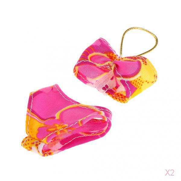 Multi-colored Halter Swimsuit Swimwear Bikini Clothes For Barbies Doll
