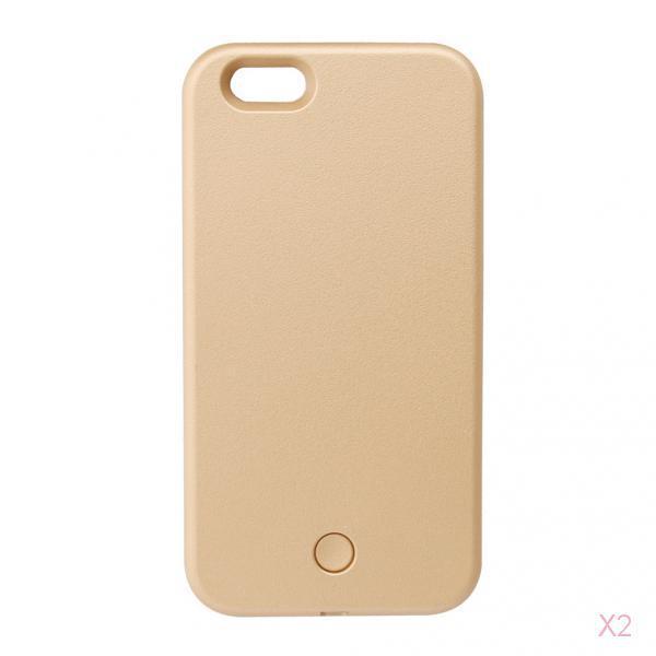 LED Light Selfie Phone Case Luminous Cover for iPhone 5s SE -Gold