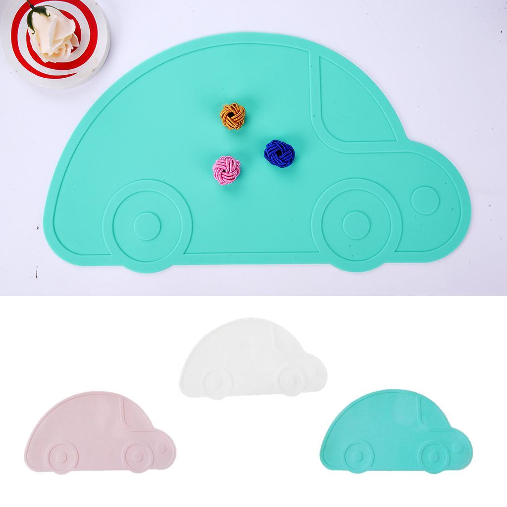 3 Piece Cartoon Car Kitchen Placemat Kids Food Table Heat Insulated Mat
