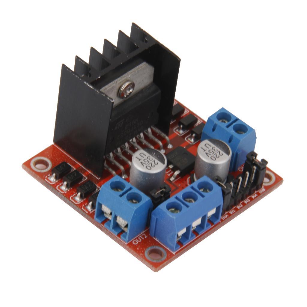 L298n dual h bridge dc stepper motor drive controll board for L298n stepper motor driver