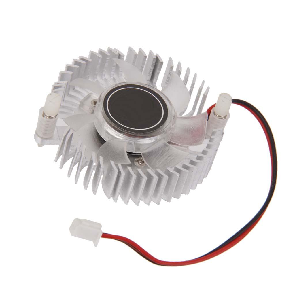 55mm Hole Round Heatsink Computer VGA Card Cooling Fan Cooler