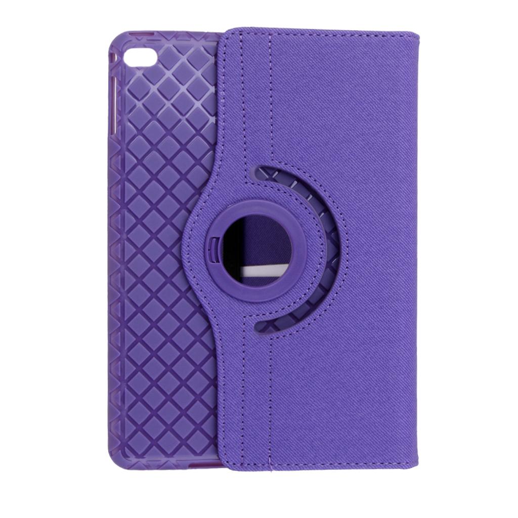 360 Rotating Smart TPU Soft Stand Case Cover For iPad Mini 4 Purple
