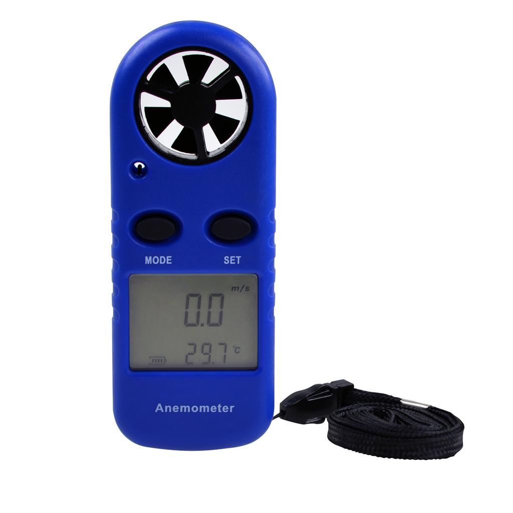 LCD Digital Wind Speed Temperature Measure Gauge Anemometer Meter