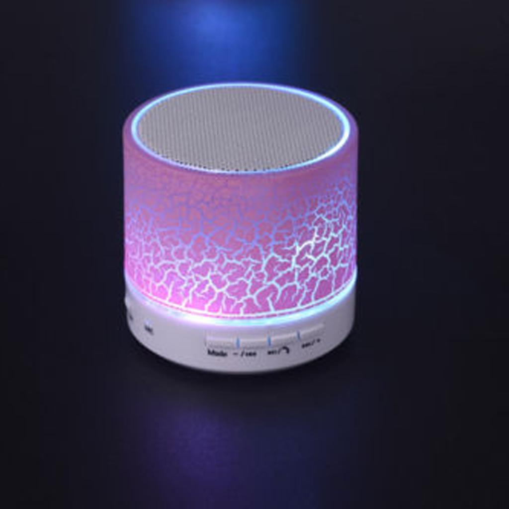 Portable Bluetooth Wireless Bass Speaker Handsfree Pink