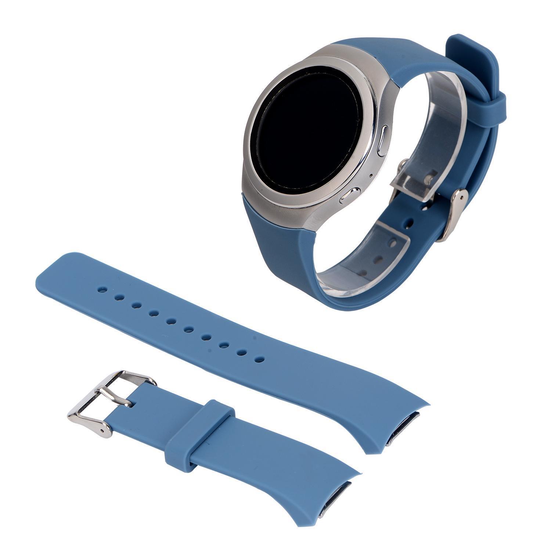 Sport Silicone Armband Wristband Watchband Strap for Samsung Gear S2 Cyan