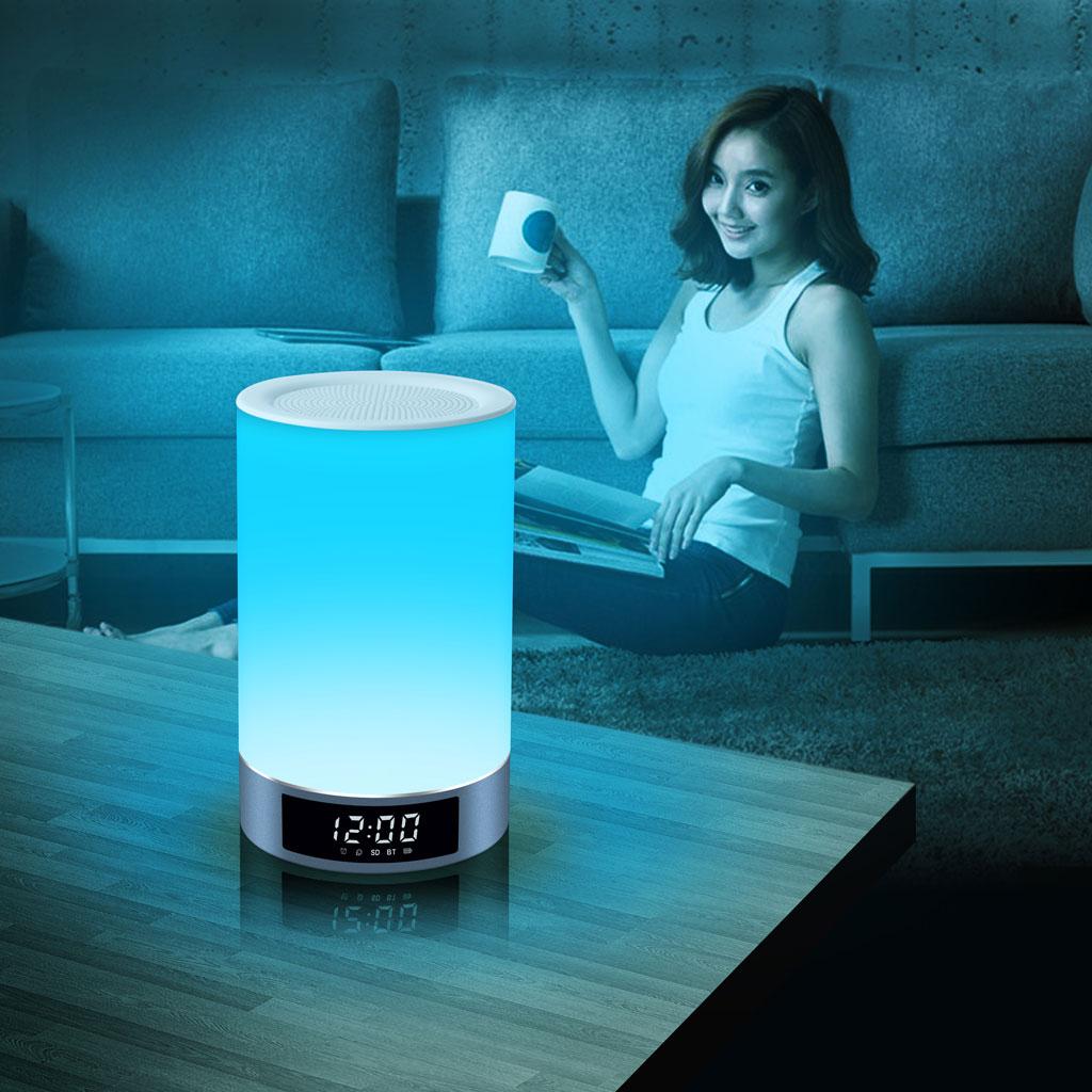LED Light Wireless Bluetooth Speaker L5 White