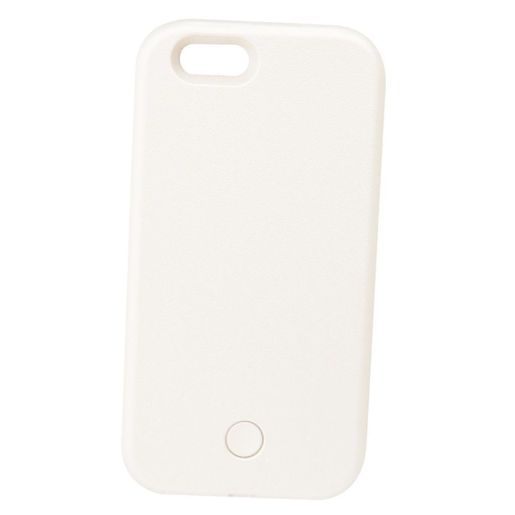 LED Light Selfie Phone Case Luminous for iPhone 6 plus/6s plus -White