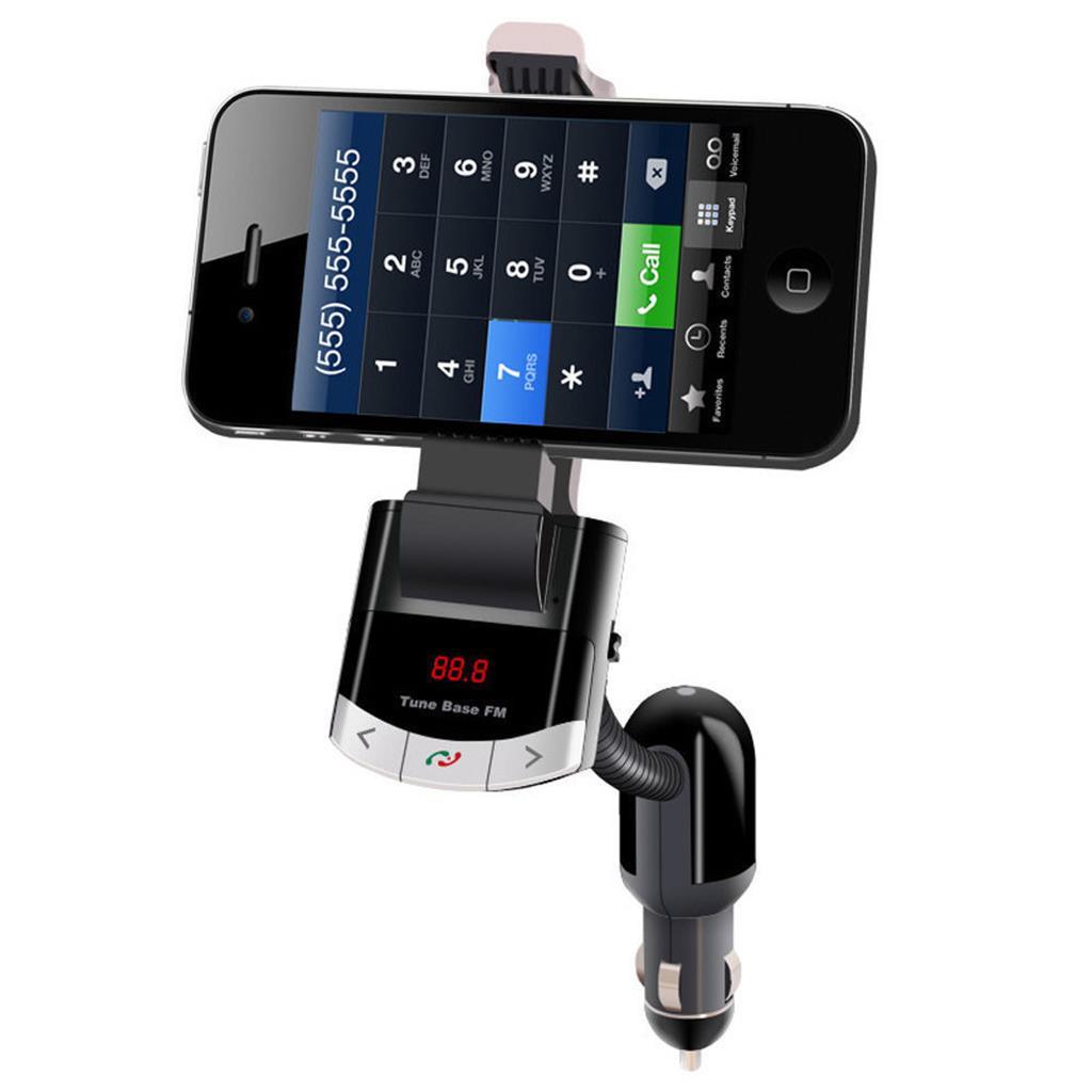 Bluetooth FM Transmitter Car Kit Handsfree Charger MP3 Phone Mount Holder