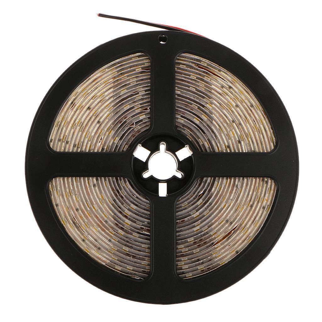 5M SMD Warm White 3528 Waterproof 300-LED Strip Light Flexible Lamp