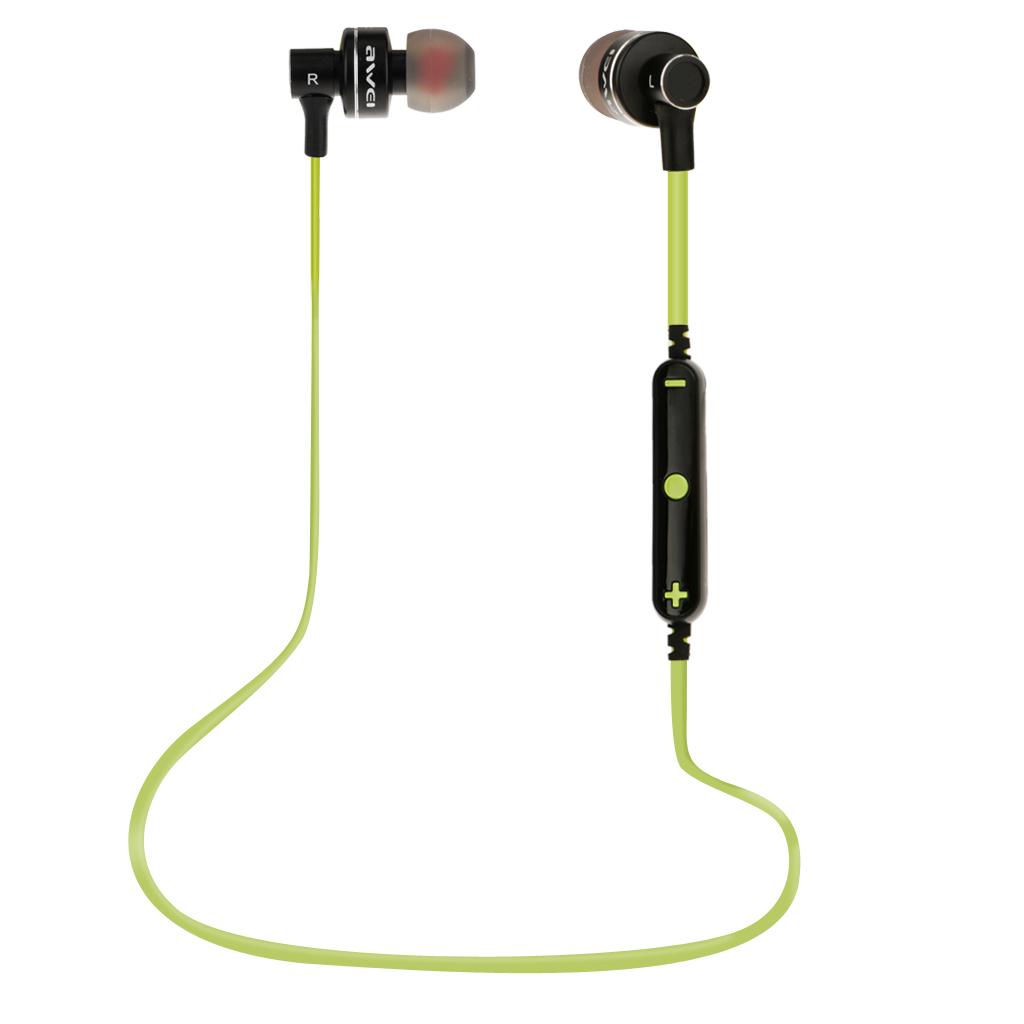 Bluetooth Wireless Awei Sports Stereo Headphone Earphone In-ear Earbud Green