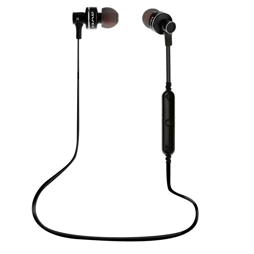 Bluetooth Wireless Awei Sports Stereo Headphone Earphone In-ear Earbud Black