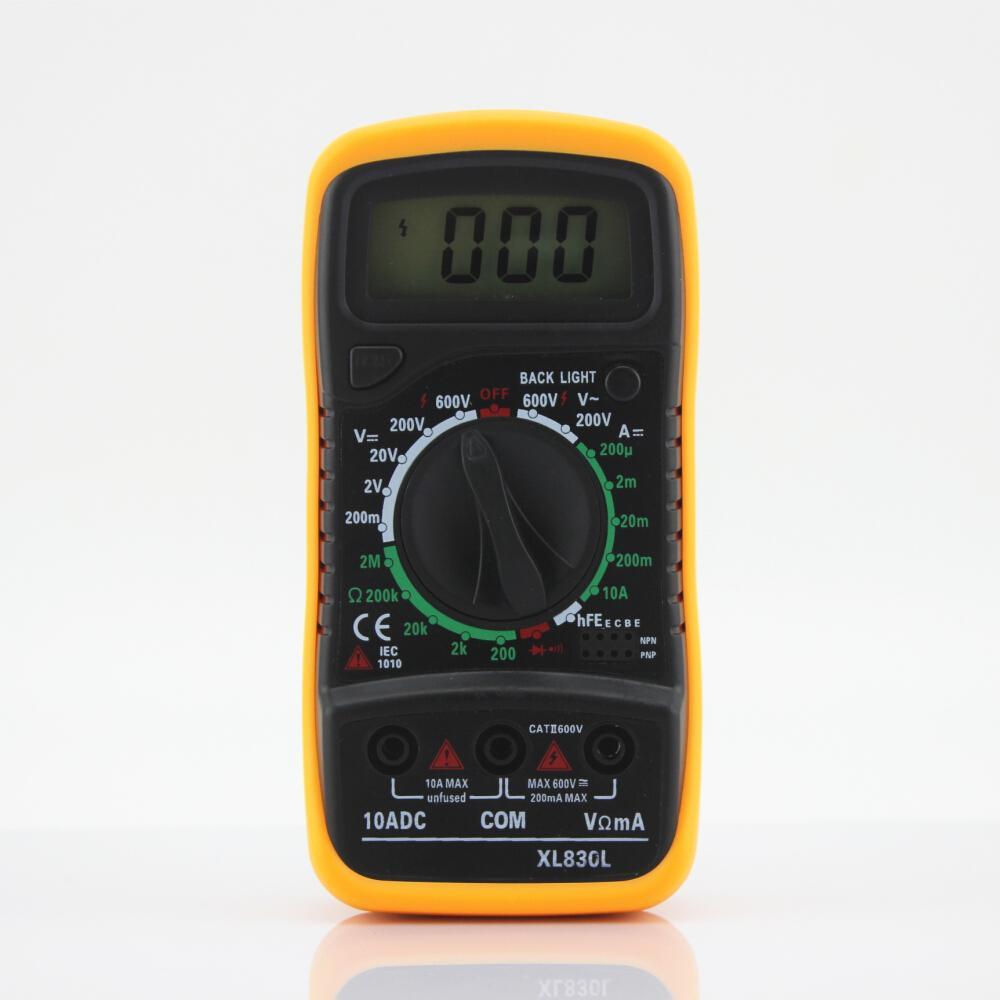 Digital Voltmeter Ammeter OHM Multimeter Volt AC DC Tester XL-830L Yellow