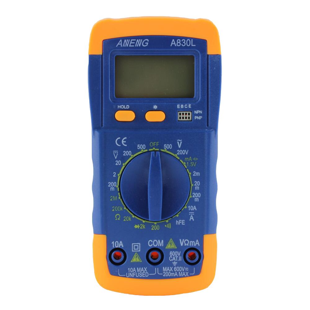 A830L LCD Digital Voltmeter Ammeter Ohmmeter Multimeter AC DC Tester Meter