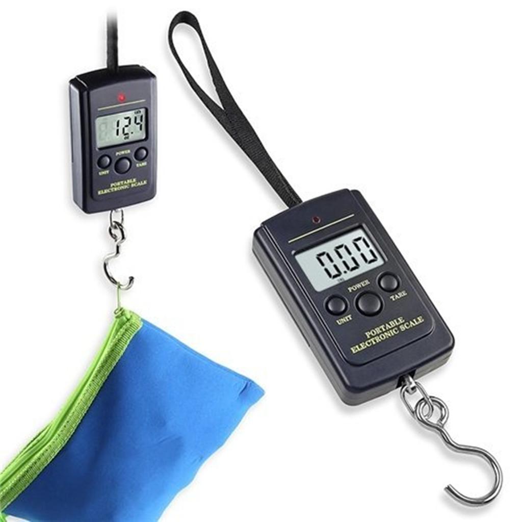 88lb/40kg Backlit LCD Electronic Digital Luggage Fish Hook Hanging Scale