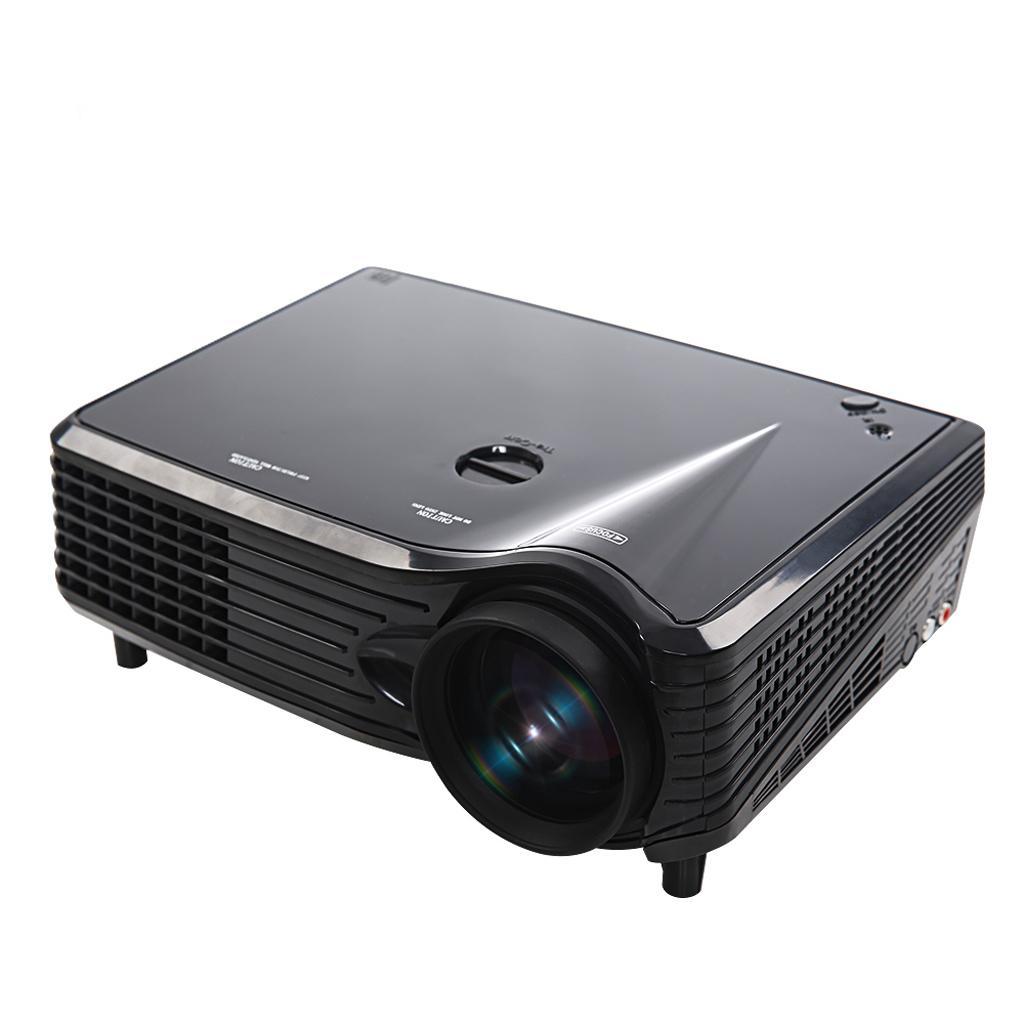 Home Theater Portable Mini LED LCD Projector 1080P FHD EU Plug