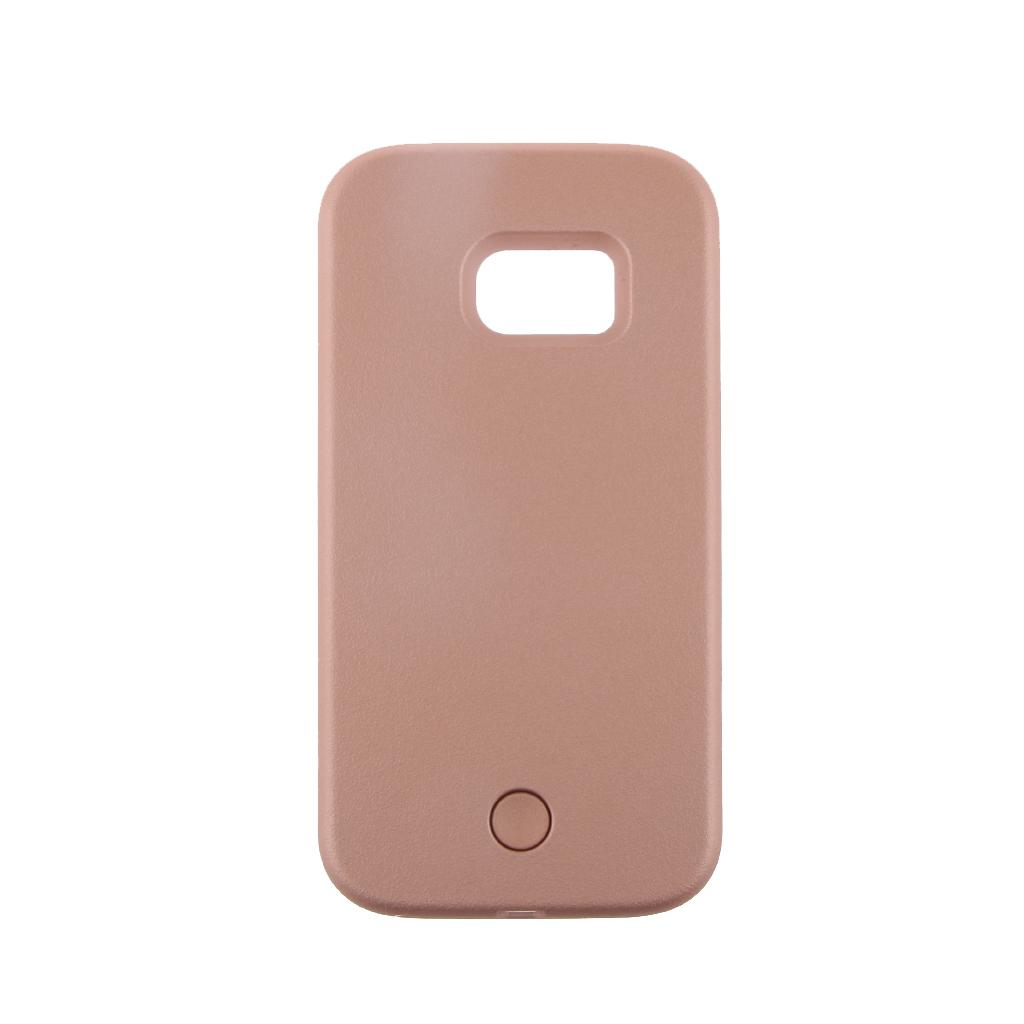 LED Light Selfie Phone Case Luminous Cover for Samsung Galaxy S7 Edge Rose G