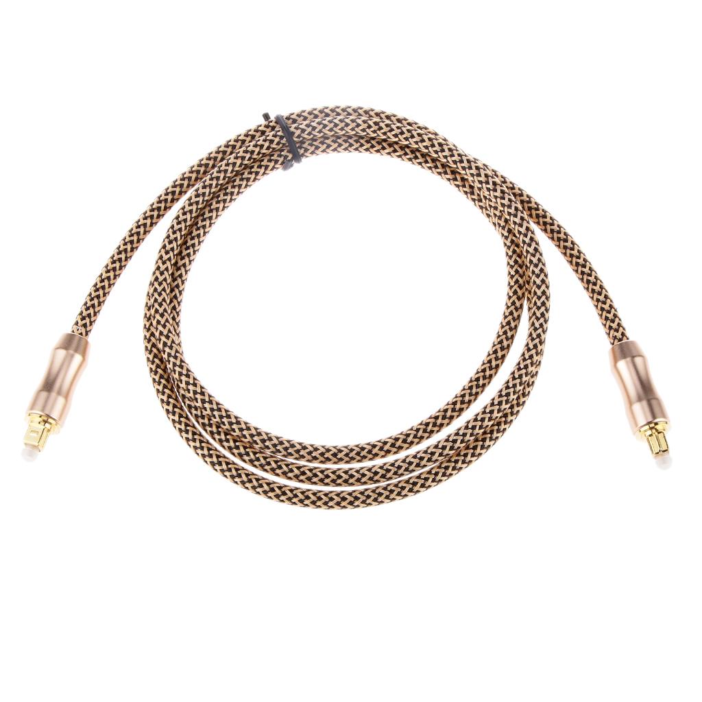 5FT Premium Toslink Fiber Optic Digital Audio Optical Cable S/PDIF Cord Wire