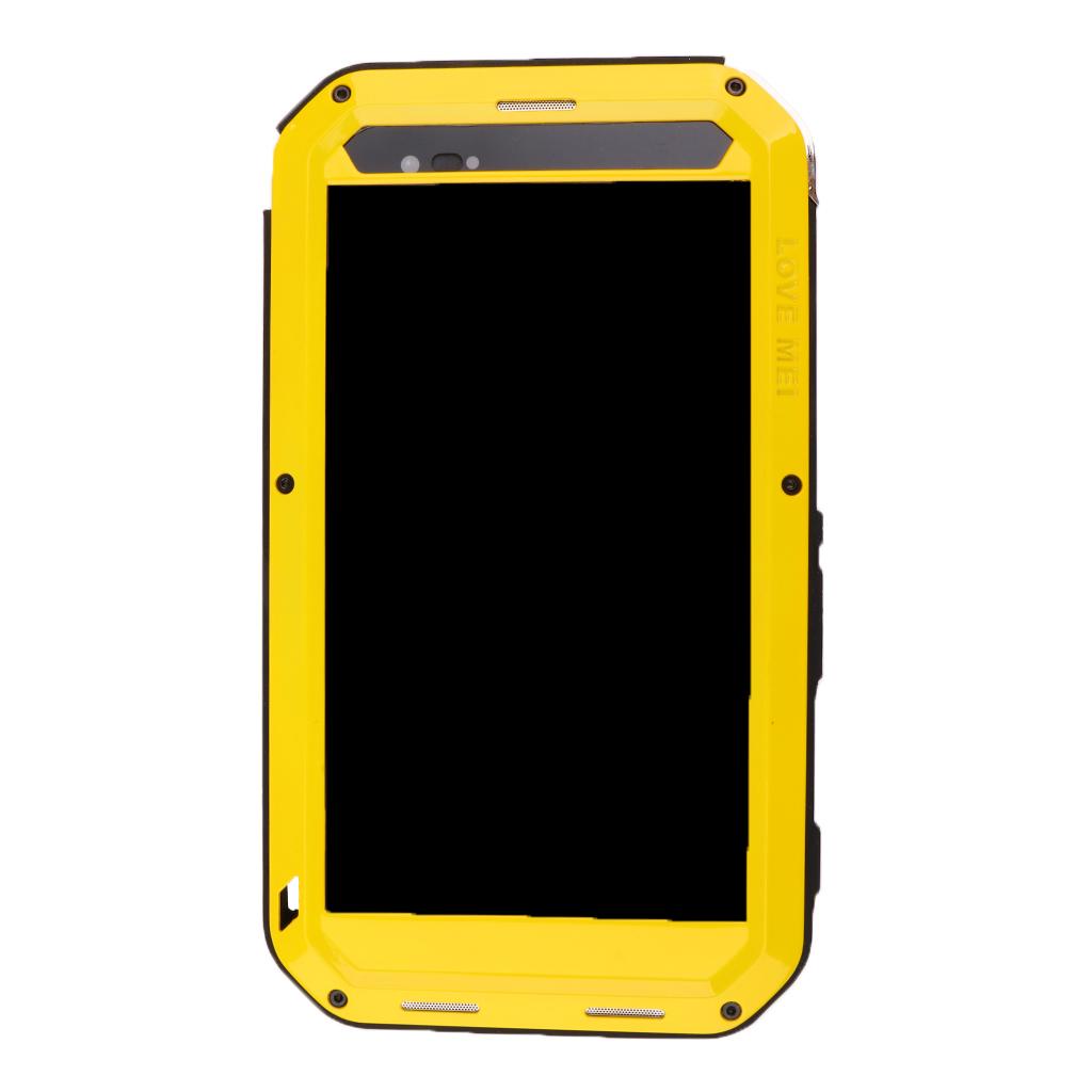 Aluminum Gorilla Glass Heavy Duty Case Cover for Sony T2 Ultra- Yellow