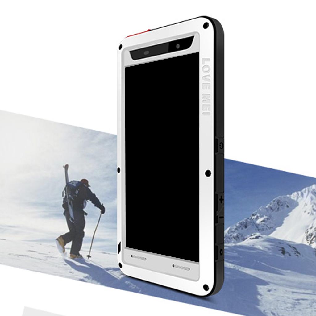 Aluminum Gorilla Glass Heavy Duty Case Cover for Sony Z5 Premium - White