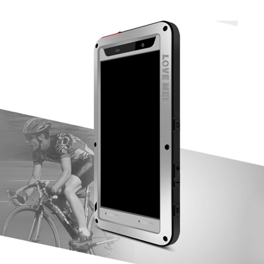 Aluminum Gorilla Glass Heavy Duty Case Cover for Sony Z5 Premium - Silver