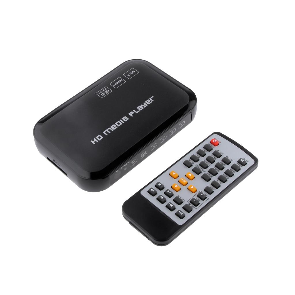 1080P HD Multi TV Media Player USB MMC HDMI AU Plug