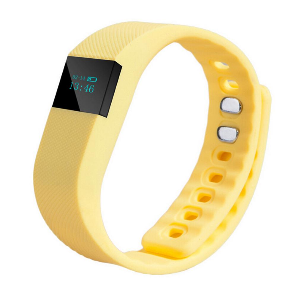 TW64 Bluetooth Smart Wrist Watch Sports Bracelet Pedometer Tracker Yellow