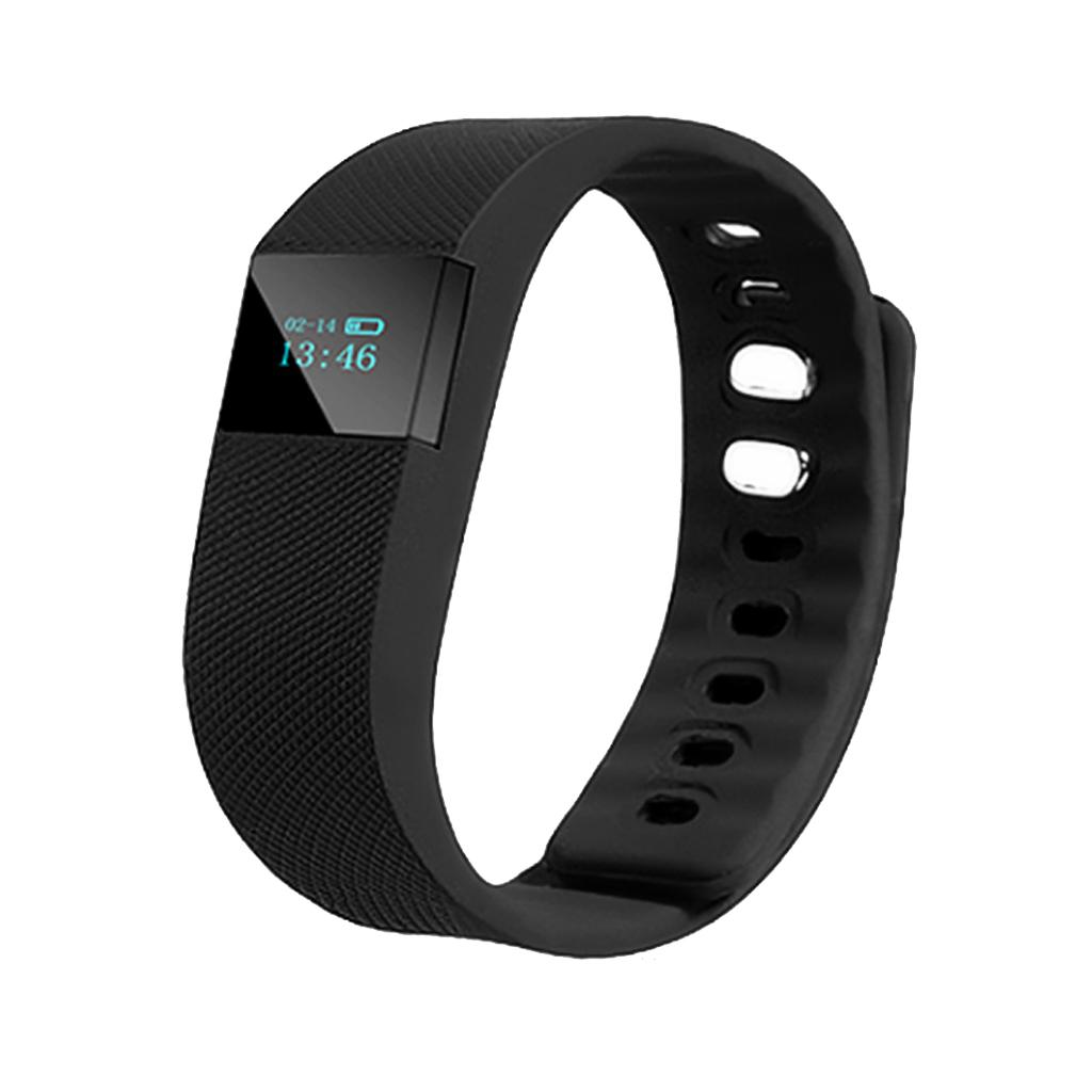 TW64 Bluetooth Smart Wrist Watch Sports Bracelet Pedometer Tracker Black