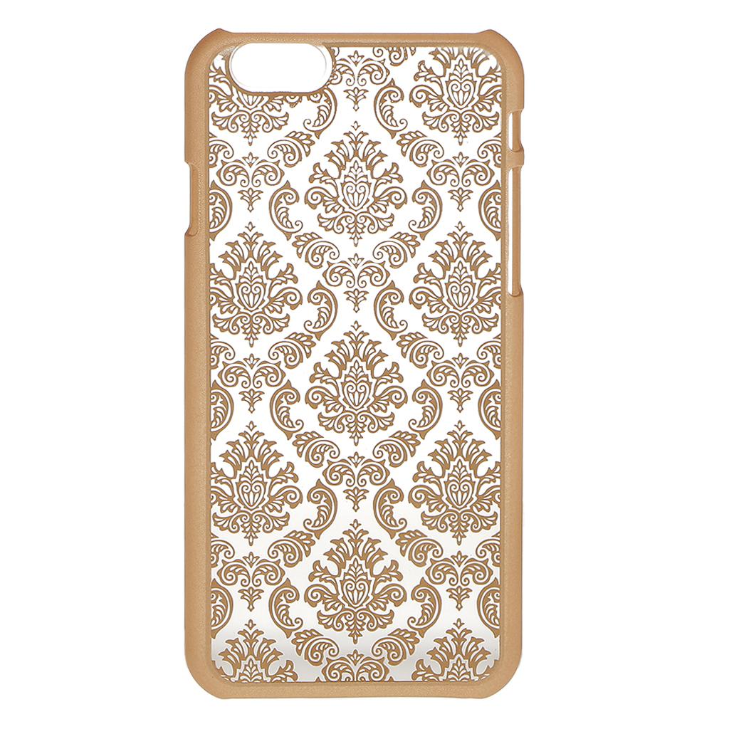 Hard Back Vintage Damask Case Cover for iPhone 6 6S -Golden