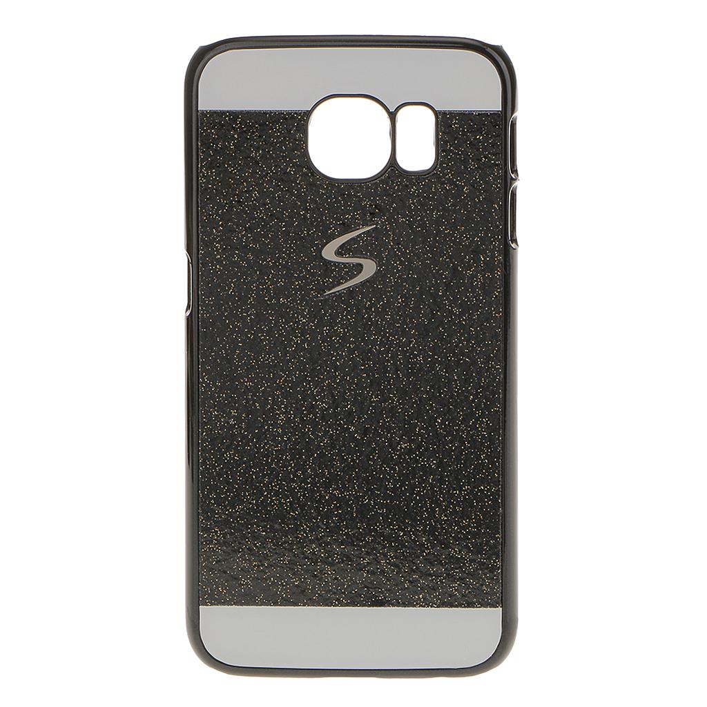 Slim Bling Glitter Phone Case Hard Back Cover For Samsung Galaxy S6 Black
