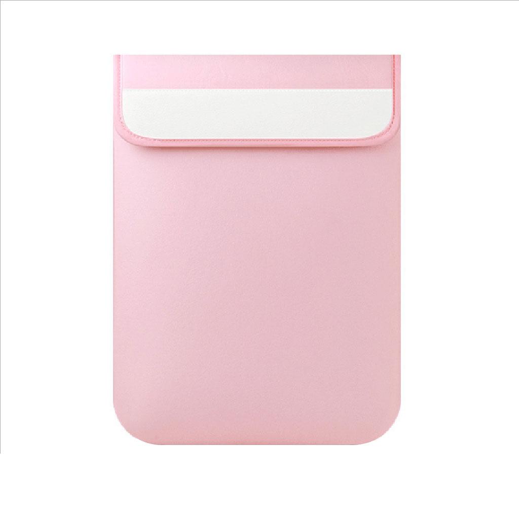 Vertical PC Sleeve Bag for Apple Macbook Lenovo Notebook Pink 13 Inch
