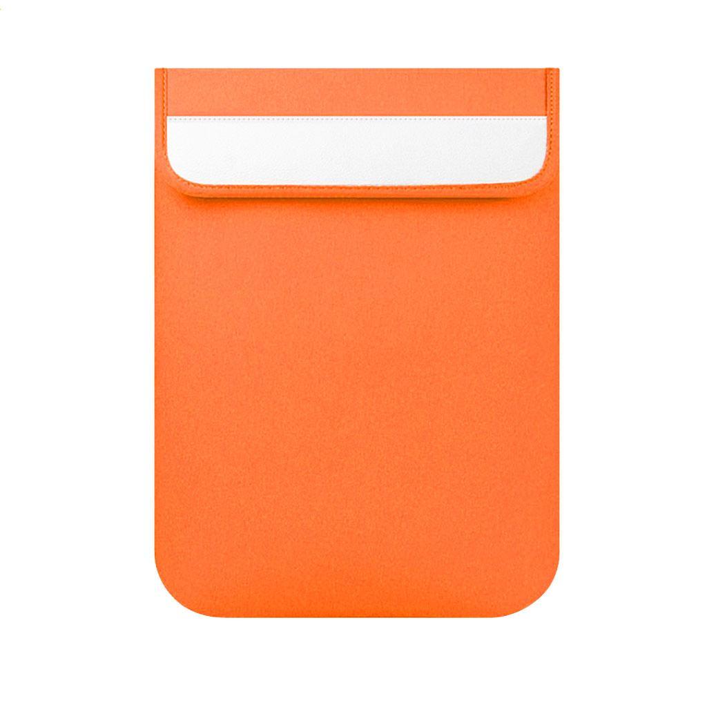 Vertical PC Sleeve Bag for Apple Macbook Lenovo Notebook Orange 15 Inch