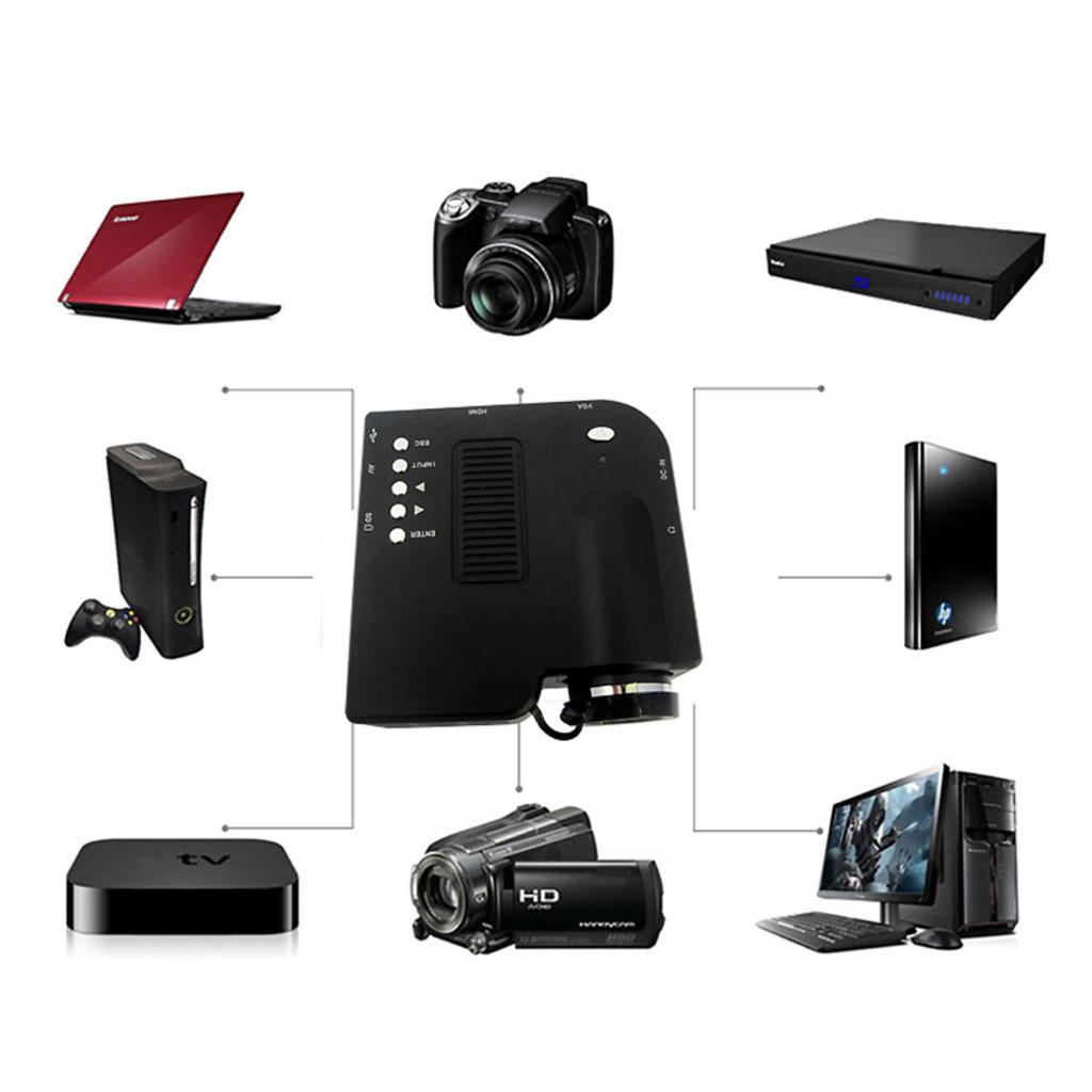UC28+ Home Theater Portable Mini LED LCD Projector 1080P FHD UK Plug