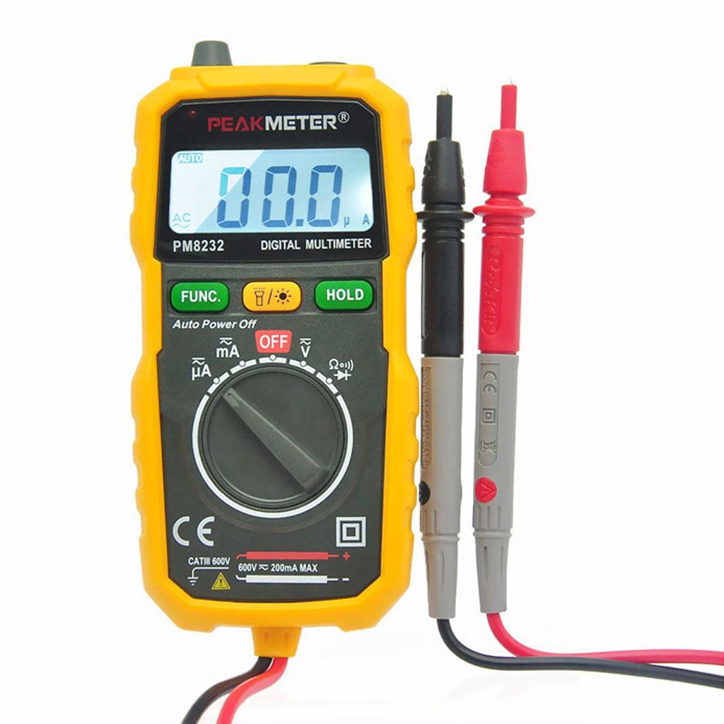 PM8232-Digital Multimeter AC/DC Amp Ohm Voltmeter Resistance Tester
