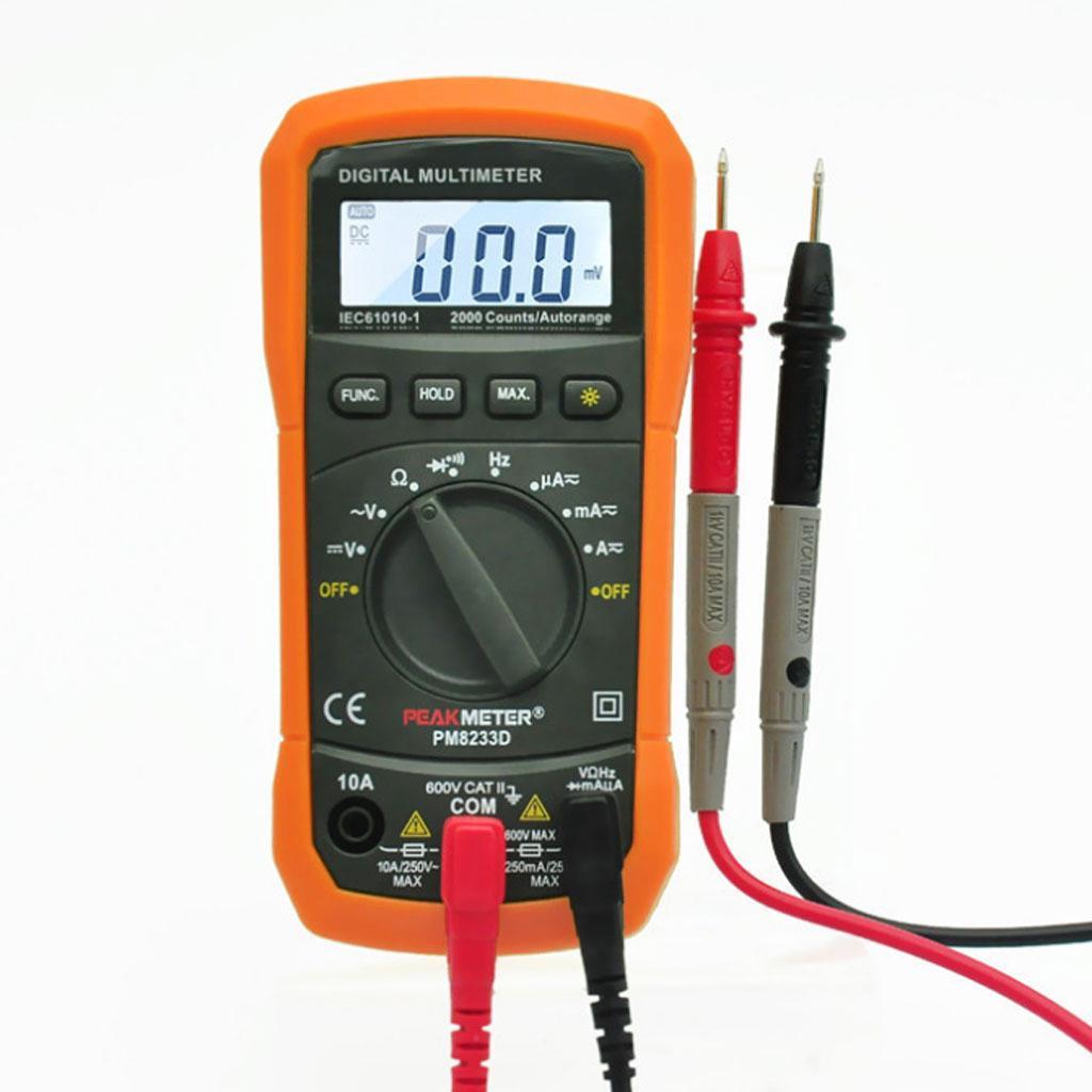 PM8233D-Digital Multimeter AC/DC Amp Ohm Voltmeter Resistance Tester