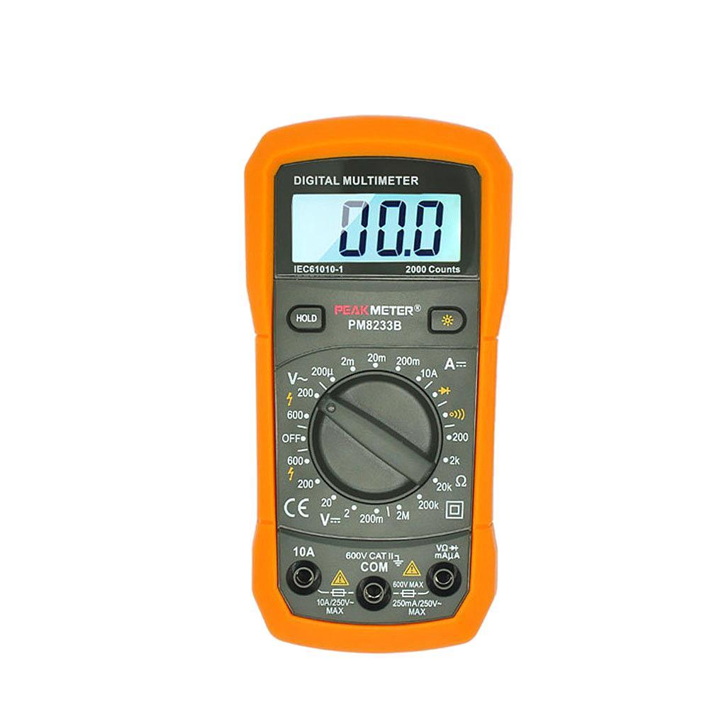 PM8233B-Digital Multimeter AC/DC Amp Ohm Voltmeter Resistance Tester
