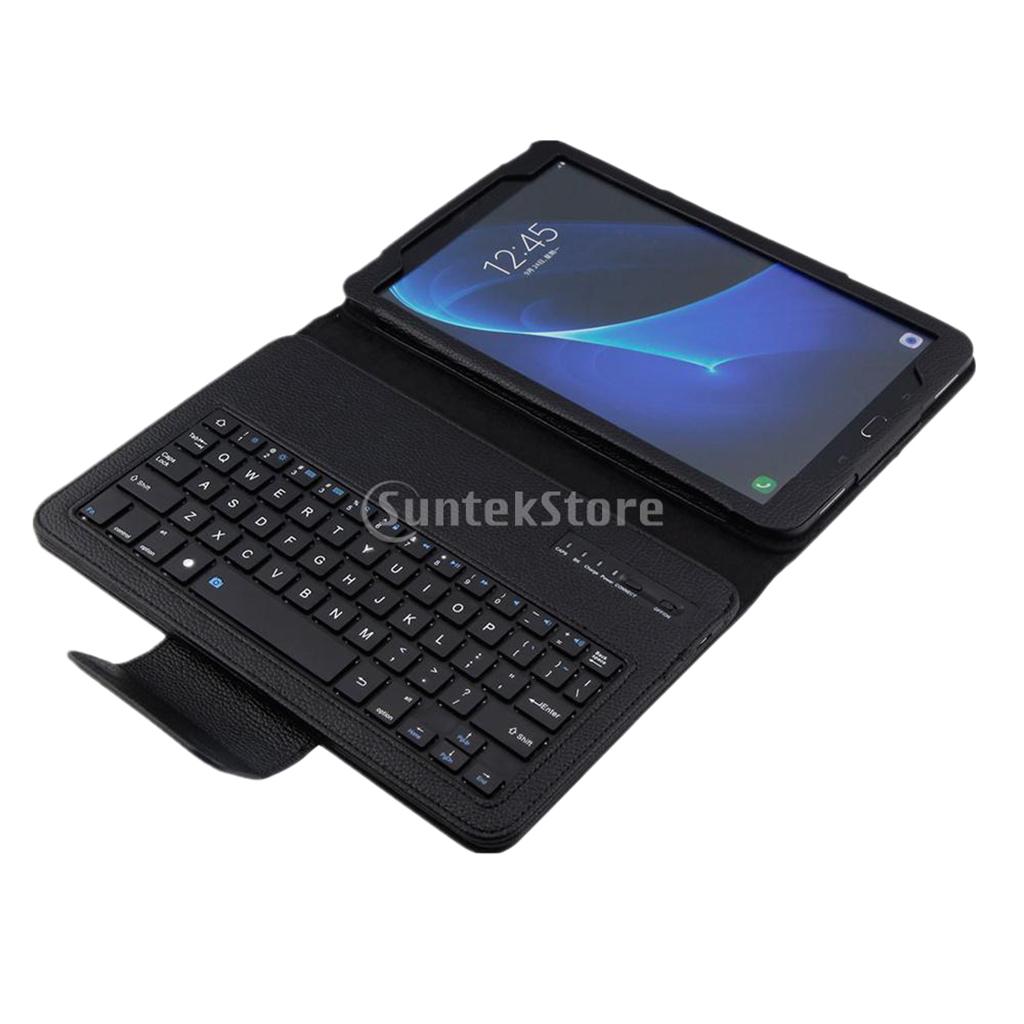 Bluetooth Keyboard Folio Leather Case for Samsung TabA 10.1 T580/T585N Black