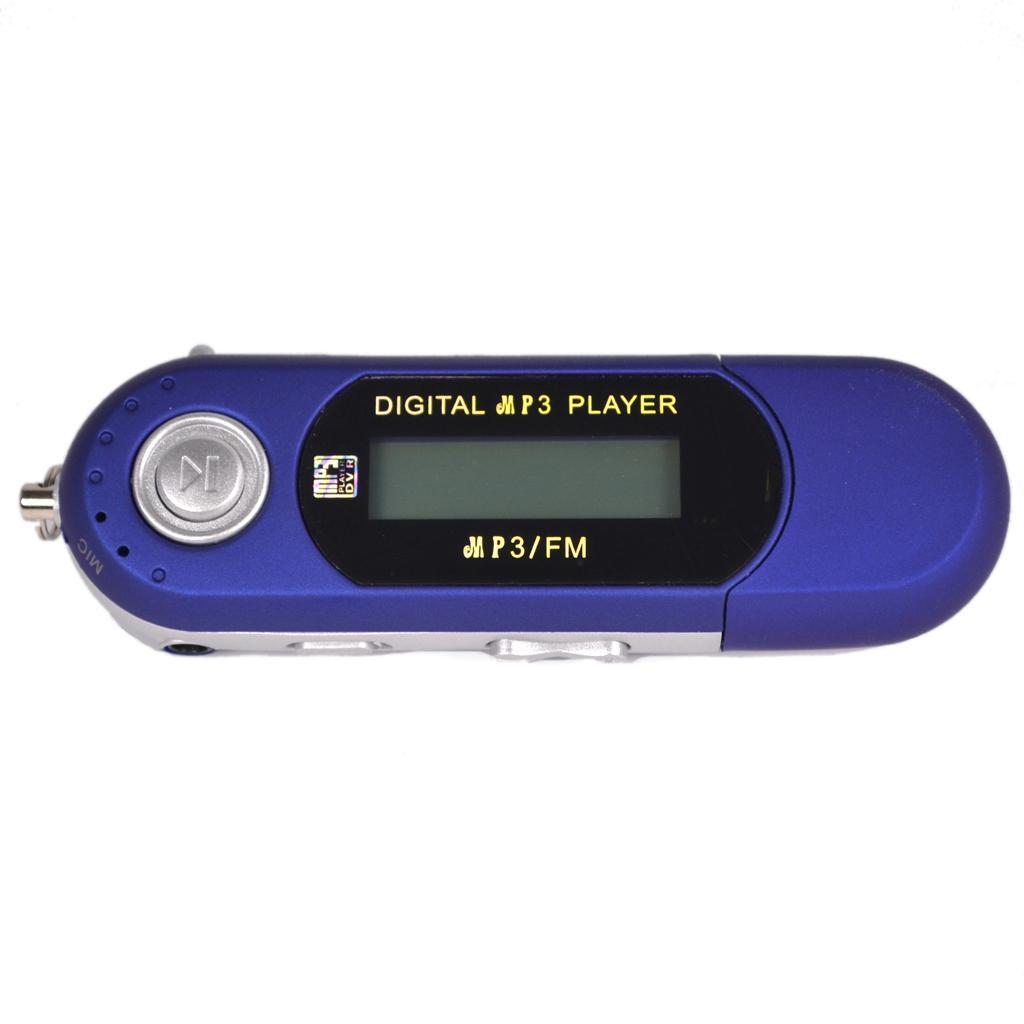 Blue 4GB USB MP4 MP3 Music Video Player Recording FM Radio eBook