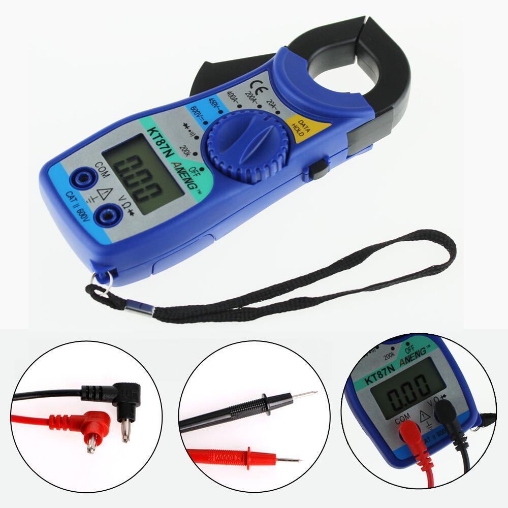 Digital LCD Clamp Multimeter Voltmeter Ammeter Ohmmeter Volt Tester Blue