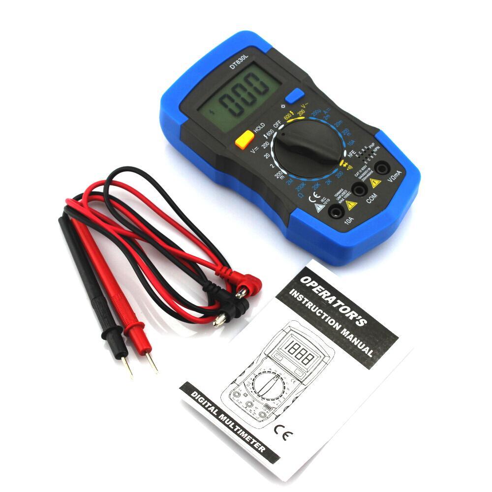 Home Electrical Tester Digital LCD Voltmeter Ammeter Ohmmeter Multimeter