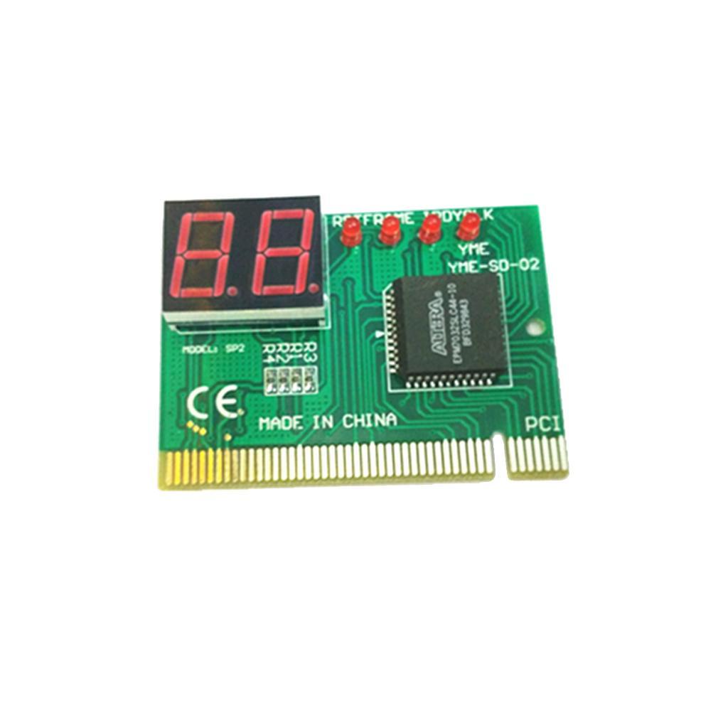 2 Bit Digital PCI Diagnostic Motherboard Analyzer Tester Board for Desktop