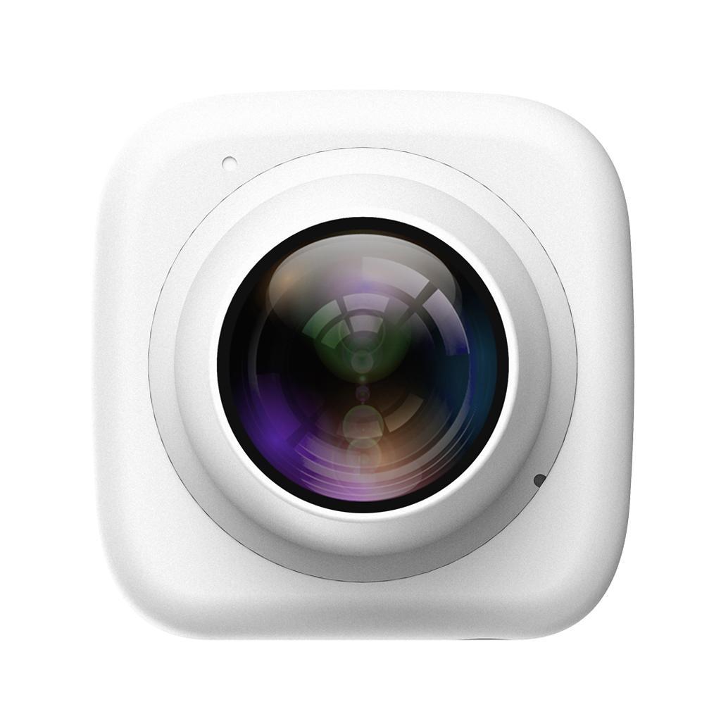 HD720P Super-mini Digital Selfie Camera WiFi APP Controlfor for Phone White