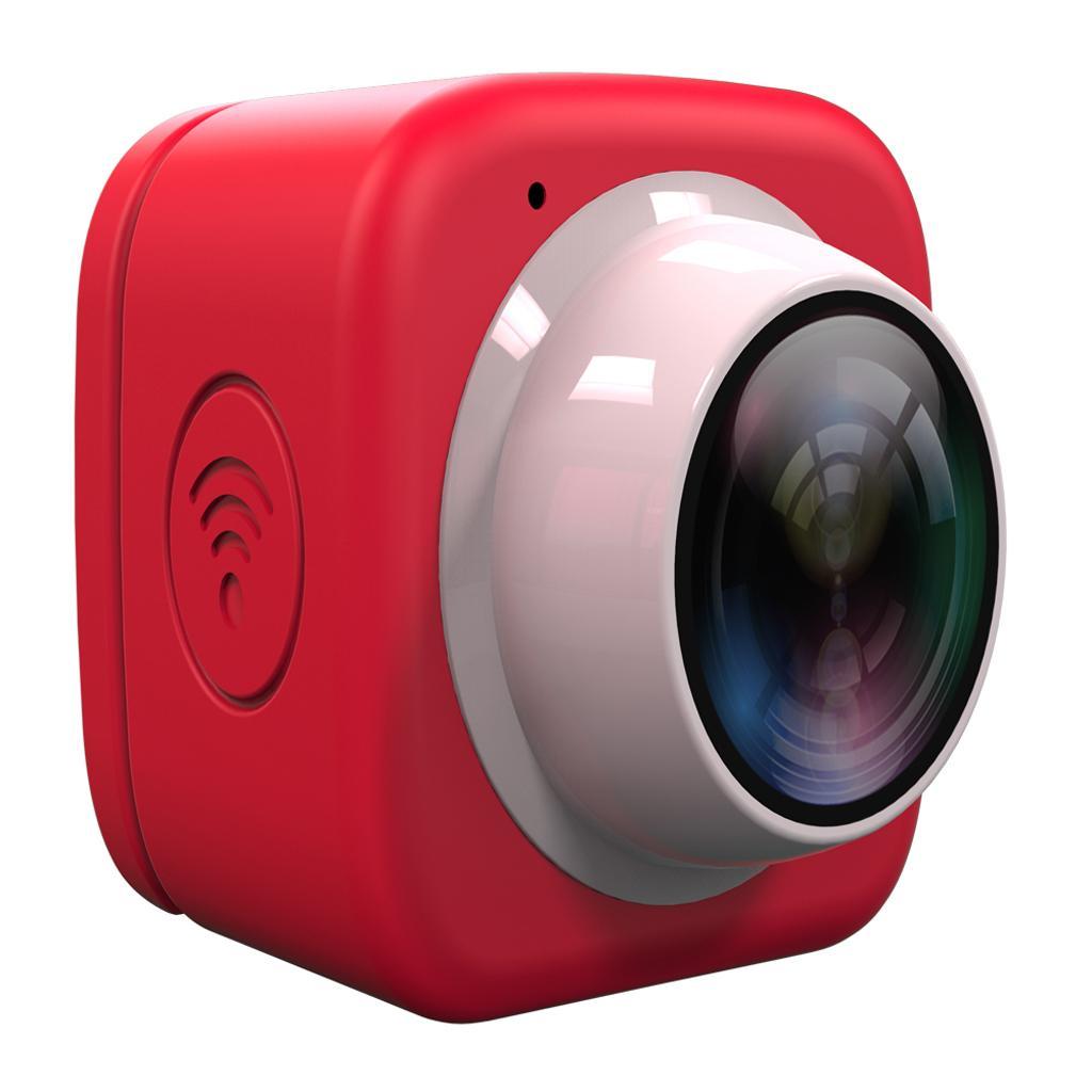 HD720P Super-mini Digital Selfie Camera WiFi APP Controlfor for Phone Red