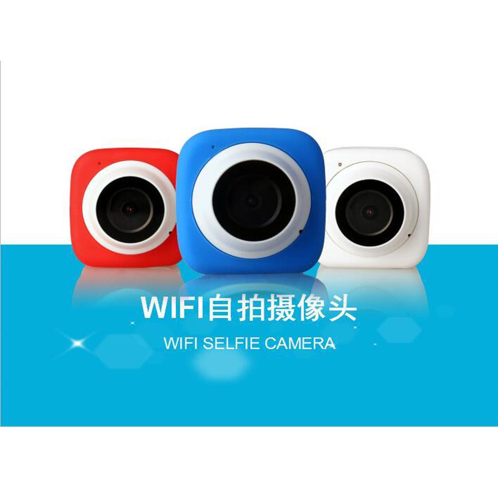 HD720P Super-mini Digital Selfie Camera WiFi APP Controlfor for Phone Blue