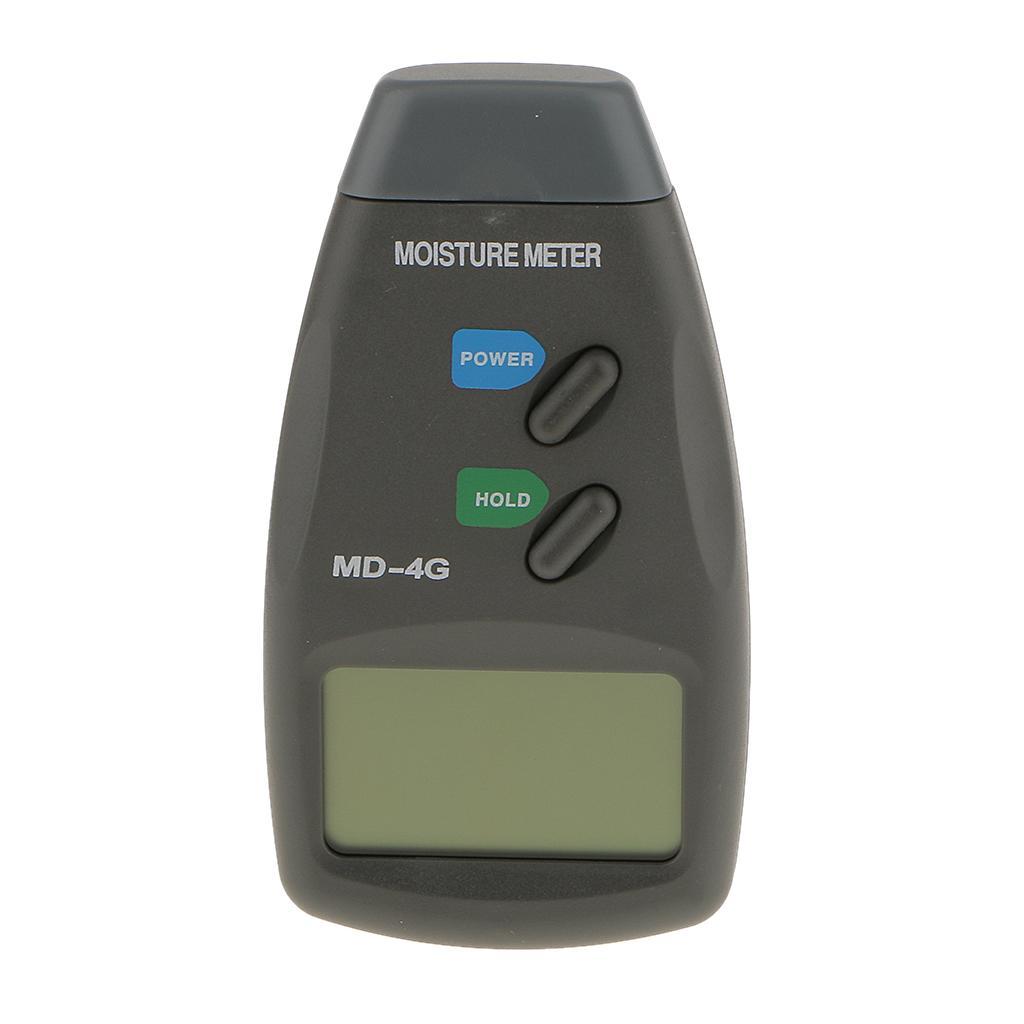 4 Pin Digital LCD Wood Moisture Meter Timber Damp Detector Tester 5% - 40%
